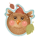 Cute Autumn Owl LWP icon
