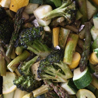 Roasted Asparagus, Broccoli and Summer Squash