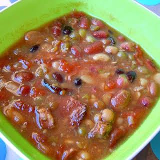 Slow Cooker 15 Bean Soup.