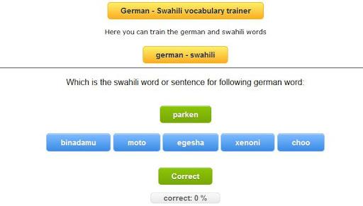 【免費教育App】swahili german trainer-APP點子