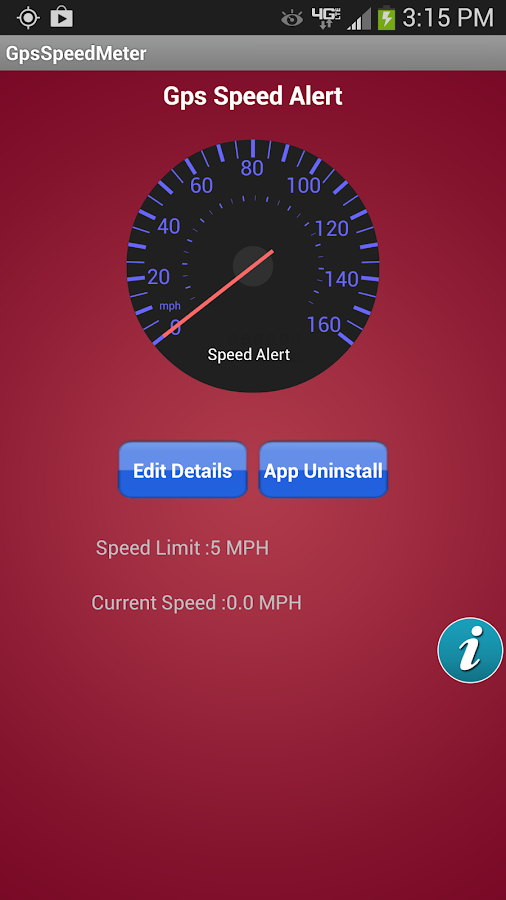 Speed Alert Control - screenshot