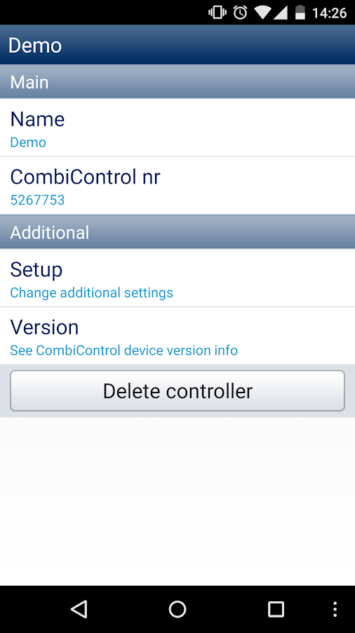 CombiControl- screenshot