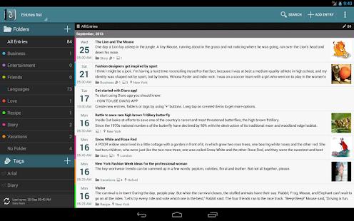 [Diaro - personal diary] Screenshot 1