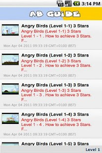 Angry Birds Guide - screenshot thumbnail