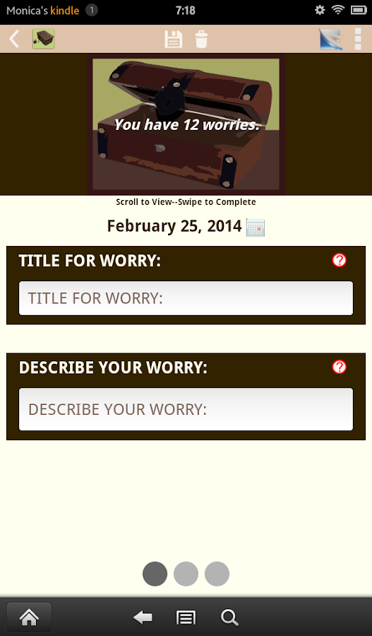 Worry Box---Anxiety Self-Help - screenshot