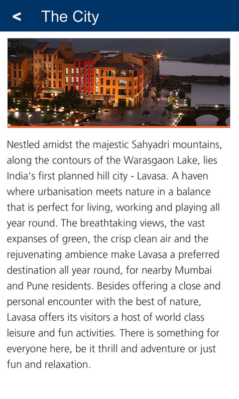 Lavasa City Guide- screenshot
