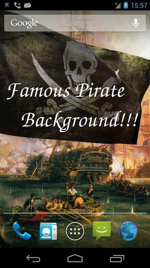 Pirate Flag Live Wallpaper Try - screenshot