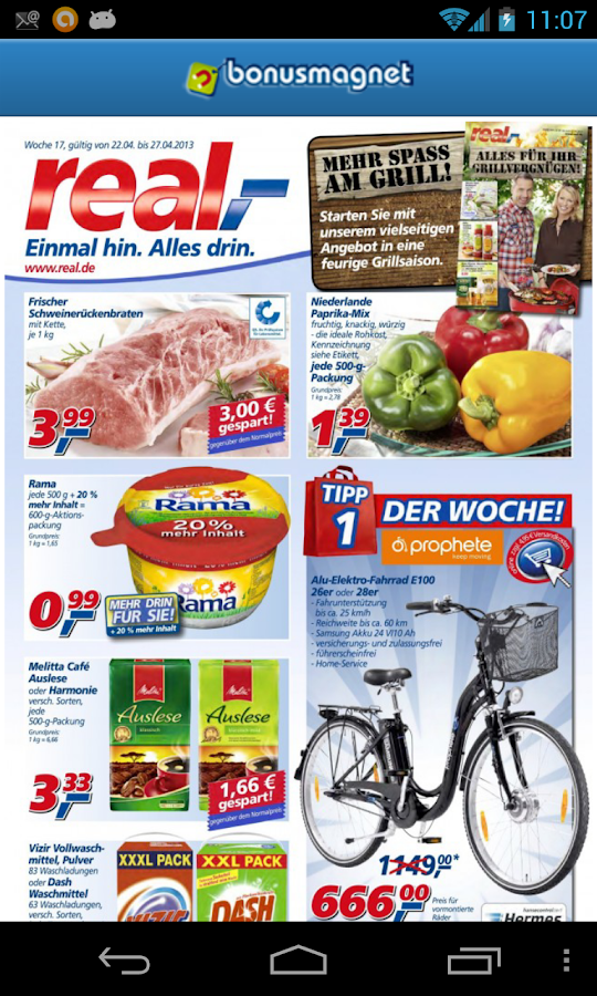 brochures offers coupons deals - screenshot