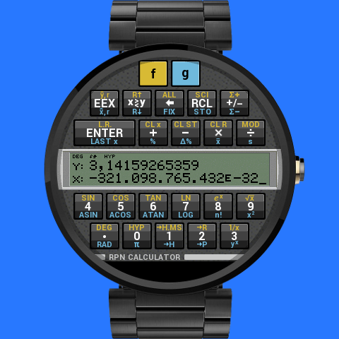 RPN Calculator for Wear- screenshot