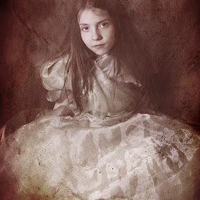 Dark Queen by Agnieszka Pogorzałek Gross - Babies & Children Child Portraits ( girl, dark, book )