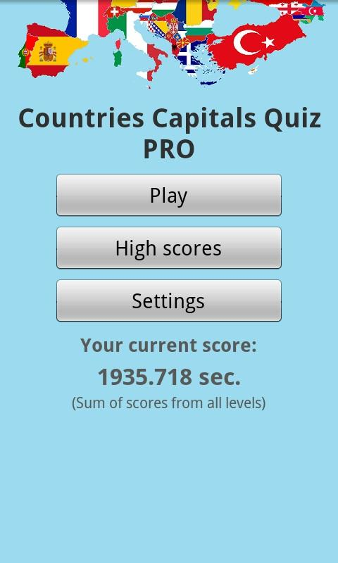 Countries Capitals Quiz PRO - screenshot