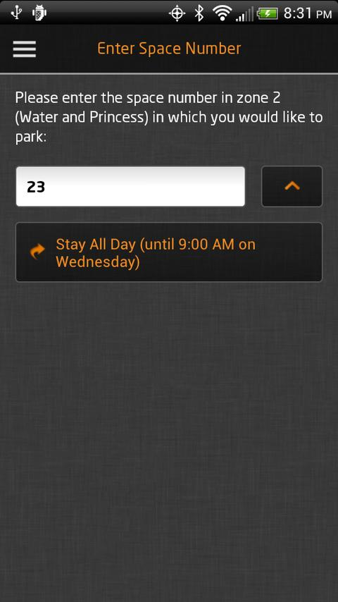 PassportParking Mobile Pay - screenshot