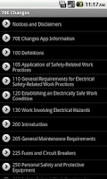 Screenshot of NFPA 70E 2012 Changes