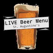St. Augustine's Live Beer Menu