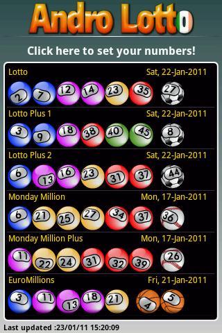 Andro Lotto IE- screenshot