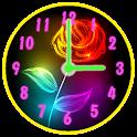 Flores de Néon Relógio icon