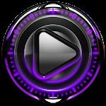 Poweramp skin Purple Glow v1.40