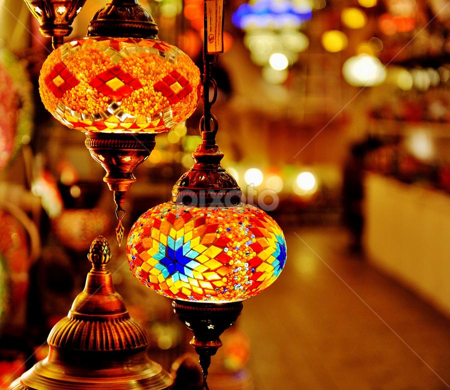 Lights by Vineet Johri - Artistic Objects Still Life ( lights, vkumar, shop, market, decoration, christmas )