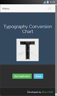 Typography Conversion Chart Screenshot 2