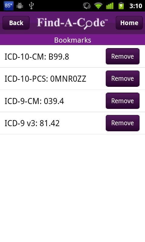 Find-A-Code ICD10/ICD9 +GEMs- screenshot