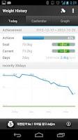Screenshot of Weight History (Diet Calendar)