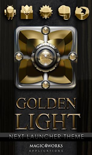 Next Launcher Theme Gold Light