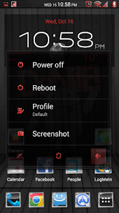 Black Wood Red CM11 Theme - screenshot thumbnail