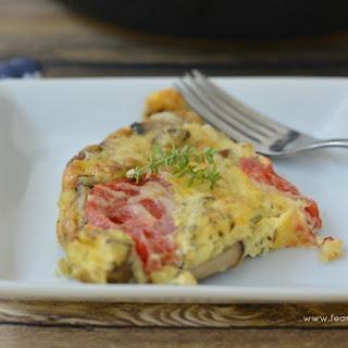 Heirloom Tomato and Mushroom Frittata.
