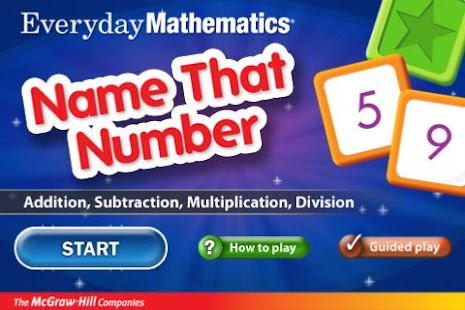 Everyday Math Name That Number