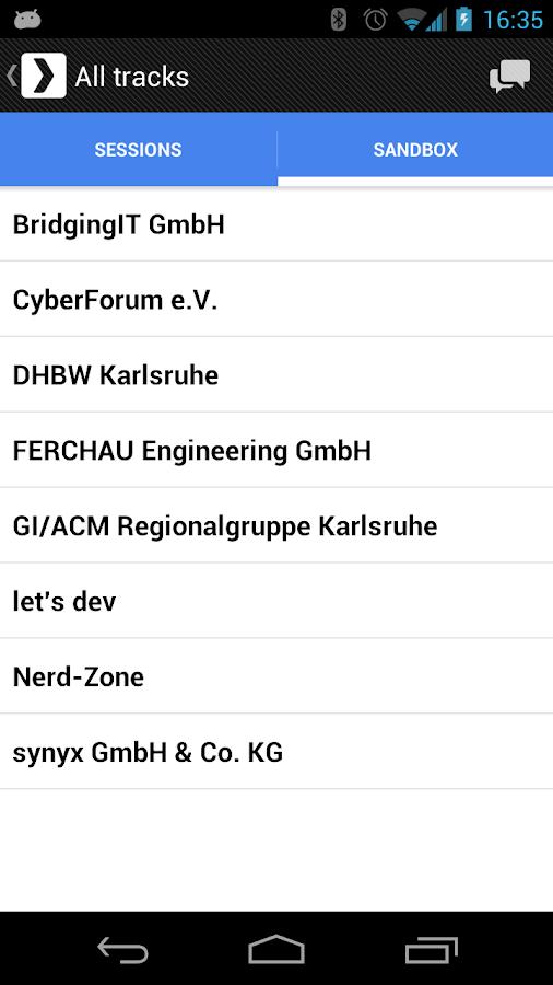 GDG DevFest 2012 Karlsruhe- screenshot