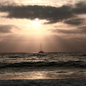 Untitled by Yana Villion - Landscapes Sunsets & Sunrises ( water, sea, beach, sunrise, sun, color, colors, landscape, portrait, object, filter forge, Free, Freedom, Inspire, Inspiring, Inspirational, Emotion, device, transportation,  )