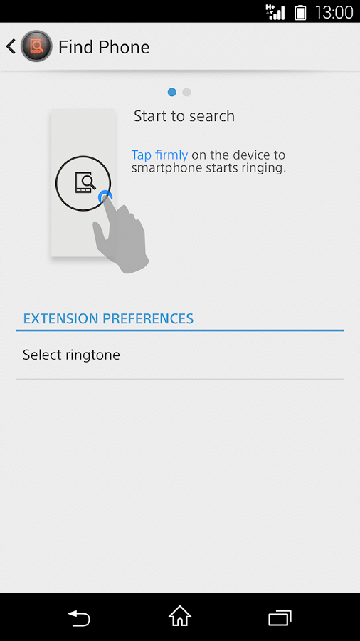 Find Phone smart extension - screenshot