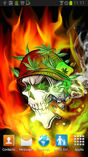 Skull Soldier Weed Parallax 3D
