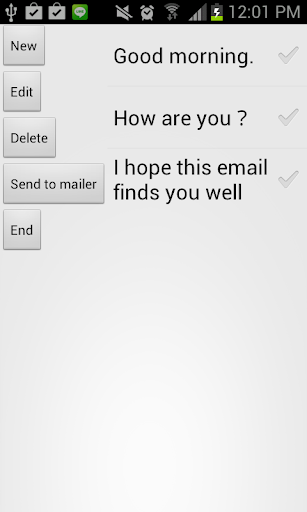 Fixed form mail launcher