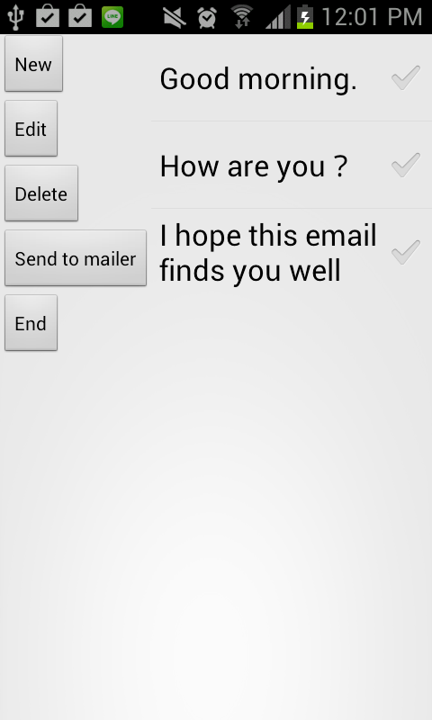 Fixed form mail launcher  - screenshot