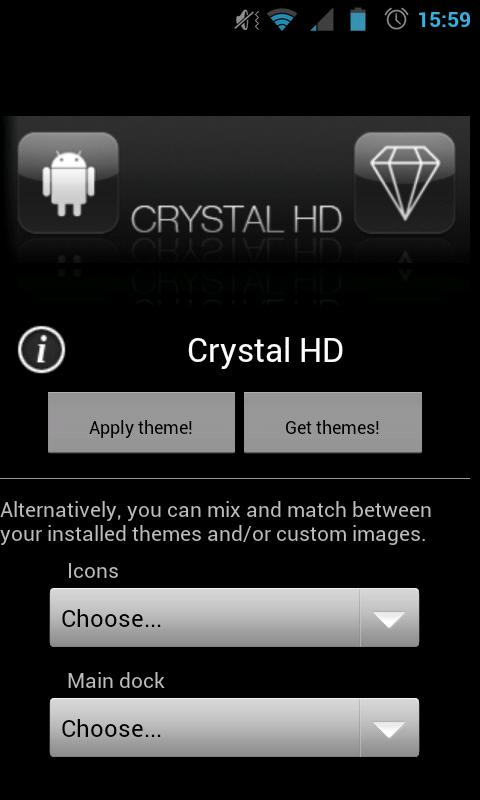 Crystal HD - ADW / LPP theme - screenshot
