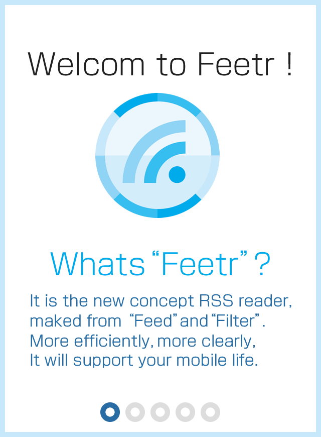 Feetr free [filter/RSS reader]- screenshot