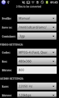 Screenshot of ARMV7 VFP VidCon Codec