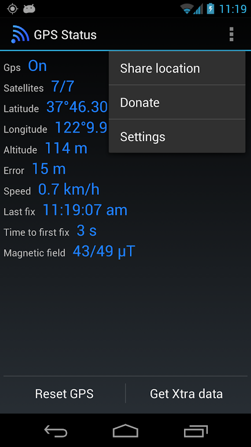GPS Status Test & Fix- screenshot