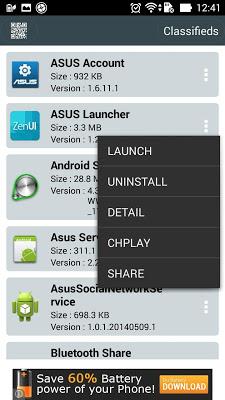 management app run background - screenshot
