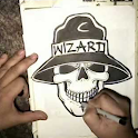 How To Draw Skull Wizard Video logo