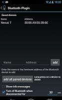 Screenshot of Delayed Lock Bluetooth Plugin