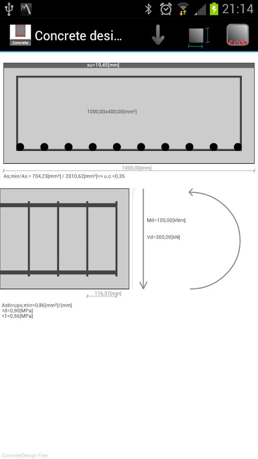 ConcreteDesign- screenshot