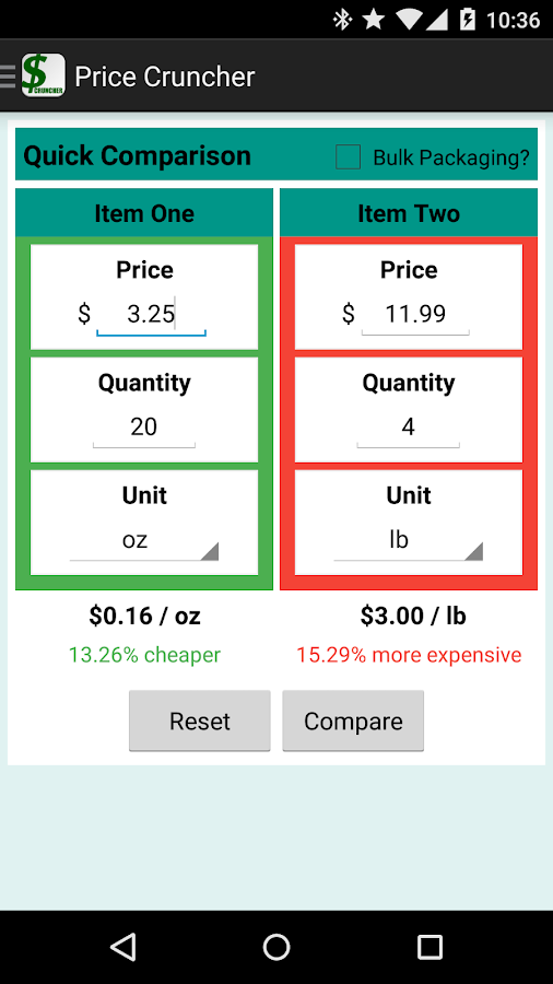 Price Cruncher - Price Compare- screenshot