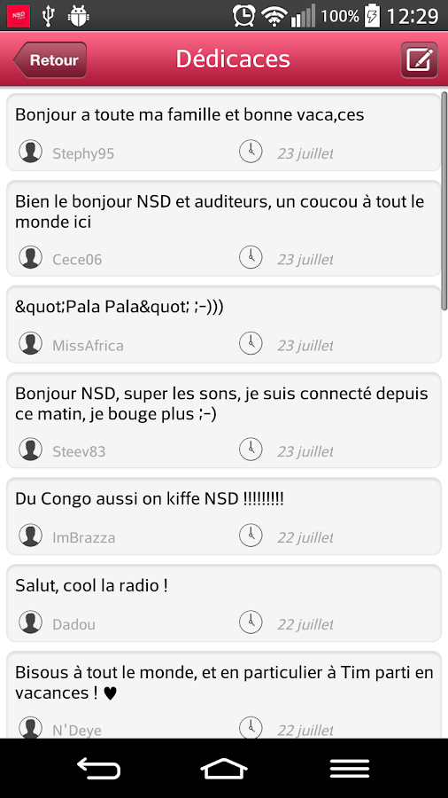 NSD Radio – Capture d'écran