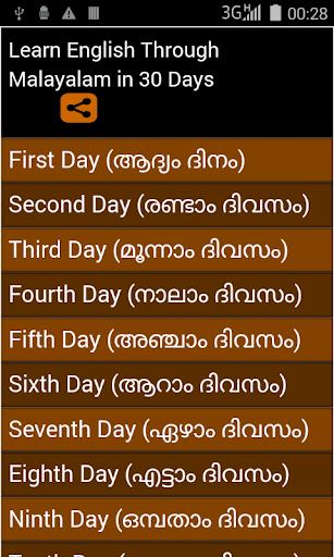 learn english from Malayalam