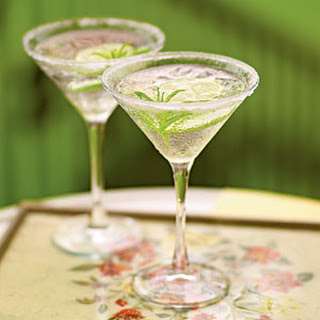 Lemon Verbena Gimlet Cocktails.