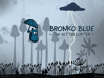 Bronko Blue the kitten copter