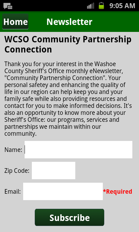 Washoe County Sheriff- screenshot