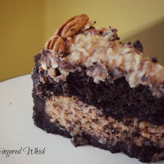 German Chocolate Cheesecake.